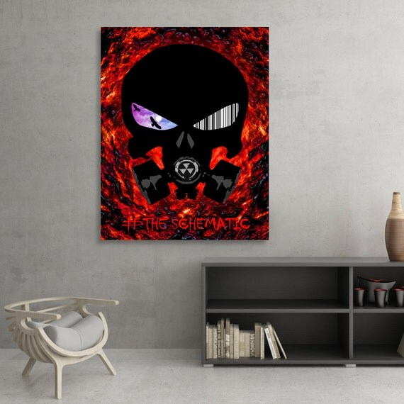 The Schematic Punisher Themed Fine Art Poster Print [SIGNED]