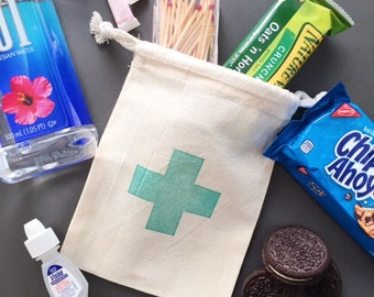 First Aid Cross Bag - Hangover Kit Bag- Recovery Bag Kit- Bachelor Favor-Party Favor- Hangover Kits Bags-Bachelorette Gift- Wedding Hangover