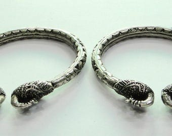 Traditional Design 925 Sterling Silver Handmade Bracelet Bangle Rajasthan India