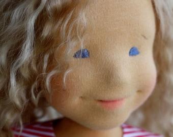 "Waldorf doll, organic doll, personaliz portrait doll, manufacture potrait doll, 17-19"" inches, organic doll, eco friendly, gift for birthday"