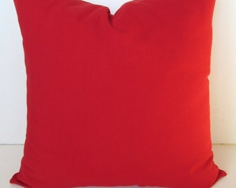 RED PILLOWS Throw Pillows Solid Red Throw Pillow Covers Red Decorative Pillow Covers 16 18 20x20 .All Sizes. home decor Home and Living