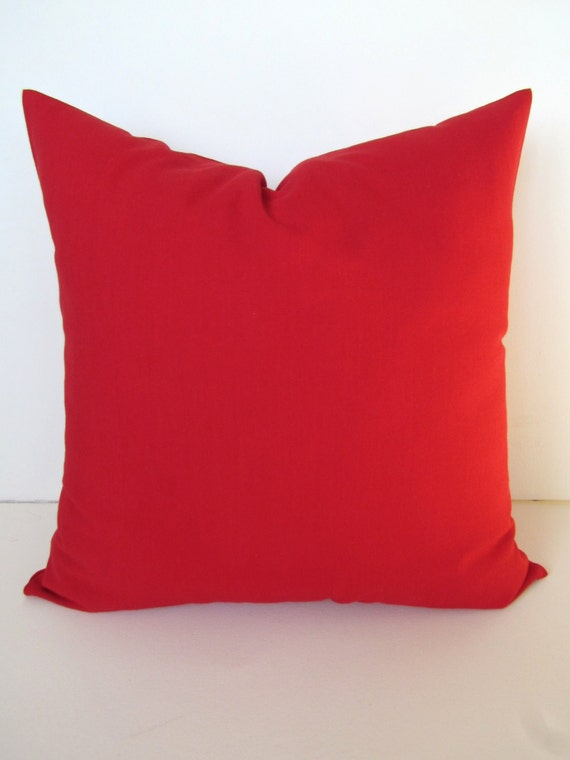 Red Throw Pillows Etsy : Items similar to RED PILLOWS Throw Pillows Solid Red Throw Pillow Covers Solid Red CHRISTMAS ...