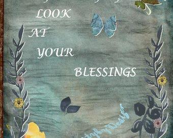 Blessings, Inspirational words, digital download