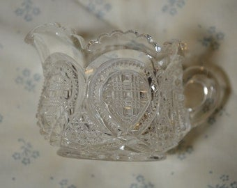 Vintage Pattern Glass Small Creamer