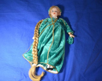 Vintage Doll  of Rapunzel with Very Long Hair