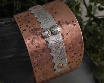 Sterling Silver and Copper Cuff