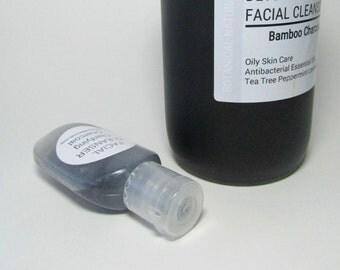 Sample, Face Wash, Charcoal & Tea Tree Facial Cleanser, Oily Skin, Acne