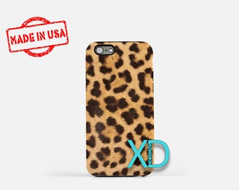 Leopard iPhone Case, Fur iPhone Case, Leopard iPhone 8 Case, iPhone 6s Case, iPhone 7 Case, Phone Case, iPhone X Case, SE Case Protective