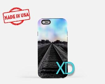 Train iPhone Case, Old iPhone Case, Train Track iPhone 8 Case, Pastel Sky, iPhone 6s Case, iPhone 7 Case, Phone Case, iPhone X Case, SE Case
