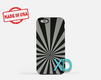 Black and Gray iPhone Case, Grunge iPhone Case, Stripe iPhone 8 Case, iPhone 6s Case, iPhone 7 Case, Phone Case, iPhone X Case, SE Case