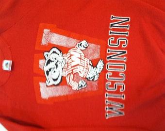 Vintage 80's Wisconsin Badgers Sweatshirt size large