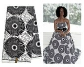 Superior Hollandais fabric by the yard/ back, white fabric /African fabrics/ Ankara fabric/ African fabric / African print  Fabric/ WP928B