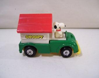 Vintage Aviva Peanuts Snoopy Dog House Truck Die-cast Vehicle, Hong Kong