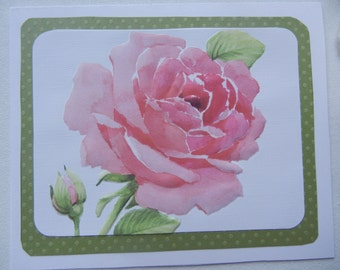 Sale Price: Rose Valentine Card (or Other Occasion) Handcrafted Just for You