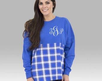 Plaid Spirtwear Jersey, Pom Pom Jersey