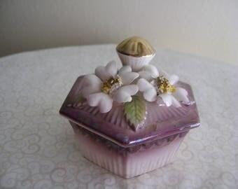 Vintage Norcrest Trinket Box Porcelain Japan