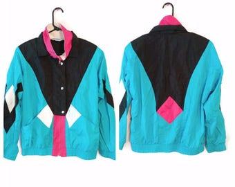Vintage Windbreaker jacket size Large L 1980s