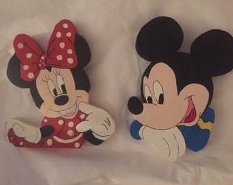 Mickey and minnie wall plaque wall hanging signs