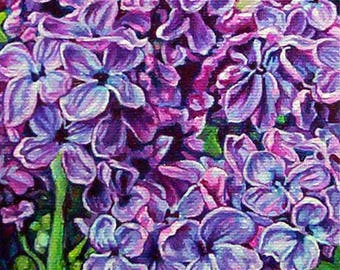Art Print, Lilacs, Colorful Purple Flower Prints