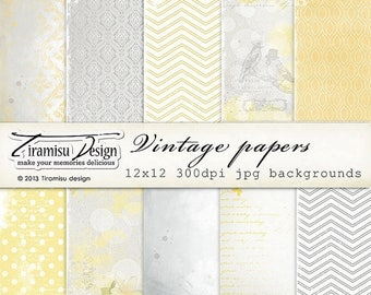 ON SALE Scrapbook Papers and Digital Paper Pack 23