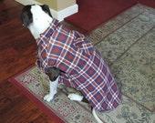 Custom Order for Kellilynn, Plaid Dog Coat / Dog Clothes, XXL-XXXL Upcycled from Men's Shirt, OOAK