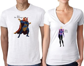 Dr.Strange Shirt, Couples Shirt, Dr.Strange and Clea Shirt, Clea Shirt, Marvel Comic Shirt