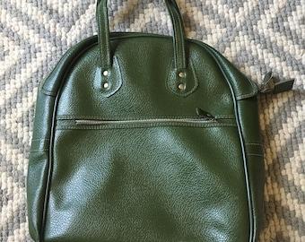 Vintage Green Vinyl Handbag
