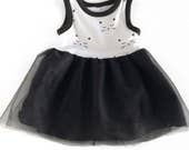 PARIS COLLECTION black tulle Avery dress, baby dress, toddler dress