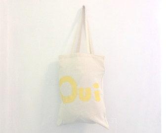 SAMPLE SALE TOTE Shopper Cotton French Eco Tote Bag / Eve Damon