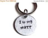 I Love My Mutt - Dog Mom Key Ring - Rescue Dog Keychain - Animal Rescue