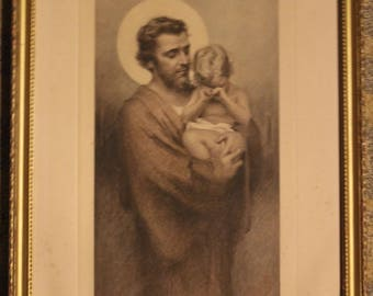 St. Joseph and Child - Print | C. Bosseron Chambers