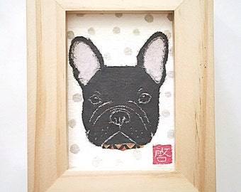 Black French Bulldog Art, Frenchie Gift, French Bulldog Wall Art