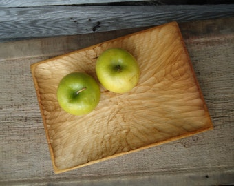 Basswood tray - Hand carved wood tray - Wood serving tray - Small wood tray - Wallet tray - Wood ring dish - Wood jewelry dish - Wood Tray