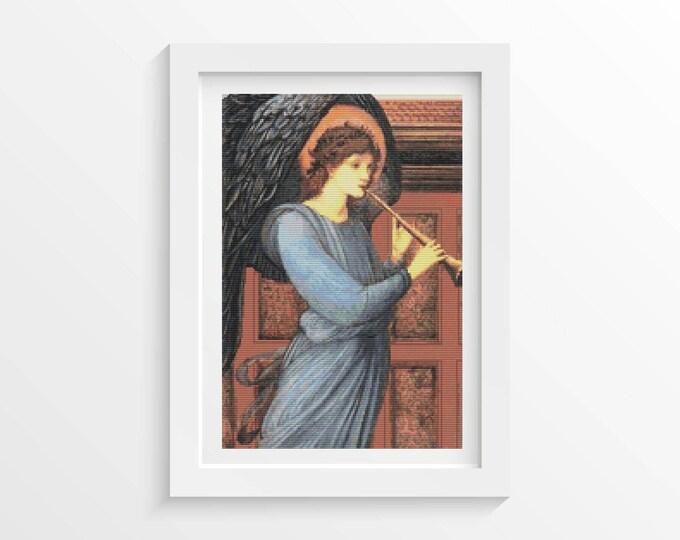 Cross Stitch Pattern PDF, Embroidery Chart, Art Cross Stitch, The Angel by Sir Edward Burne-Jones (BURNE02)
