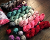 cascade ultra pima cotton - 100% cotton yarn pack - all 10 yarn hanks in the pack are brand new, unused. Free yarn balls and remnants bagged