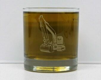Excavator, Excavator Operator, Excavation, Backhoe, Excavator glass, Heavy Equipment glass, excavator gift, heavy equipment gift