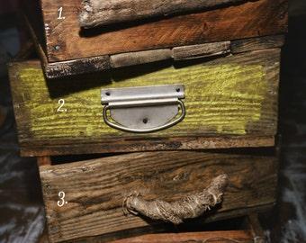 Rustic handmade wooden crate , photo prop