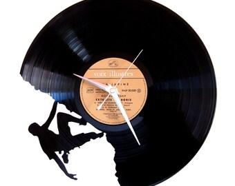 Vinyl clock climbing