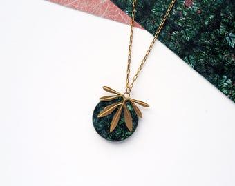Palm Leaf Necklace - Palm Leaf - Gold Necklace - Modern Necklace - Botanical Pendant - Leaf Necklace - Delicate Necklace - Gold Leaf