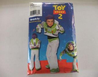 TOY STORY 2 Costume Pattern/SIMPLICITY Pattern 0627/Costume Pattern for Buzz Light Year/Disney Pixar/Size A/Child Size 3,4,5,6,7,8/Uncut