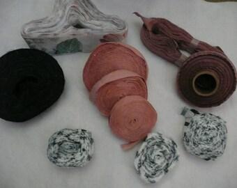 Destash Rug Purse Basket Crochet Fabric Material