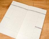 Weekly planner paper insert for Traveler's Notebook - REGULAR SIZE