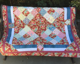Floral Lap or Baby Quilt