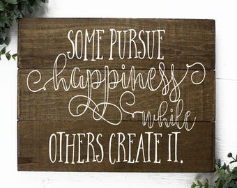 Happiness Sign Wall Art for Home or Office