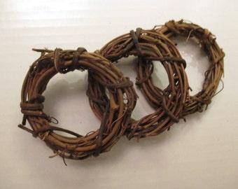 Mini Grapevine Wreaths Set of 3 Craft Supplies