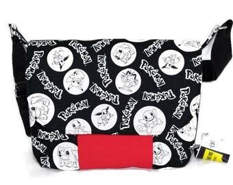 Pokemon Fabric Bag - pokemon bag -  Pokemon Go - Pokemon Gift - Messenger Bag - Crossbody Bag - Unique gift - SALE
