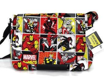 Marvel Fandom Merchandise - Avengers - Messenger Bag  - Crossbody Bag -  Womens messenger bag - Pop Culture - Girlfriend gift -