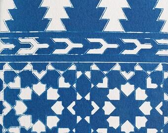 Handmade Cyanotype - Tangier Tile
