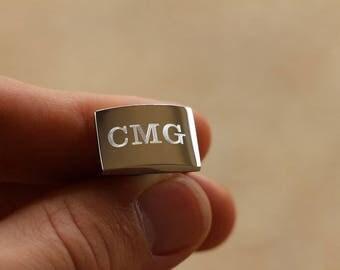 18 Pairs of Monogram Cufflinks, Personalized Cufflinks, Custom Engraved Wedding Cufflinks, Cuff Links Personalized, Groom Cufflinks