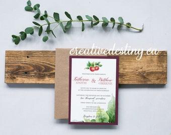 Orchard Wedding Invitation Template, Rustic Wedding Invitation Digital Download, Custom Wedding Printable Invitation